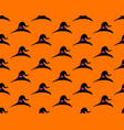witch hat seamless on orange background vector image