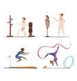 women do sports collection vector image vector image