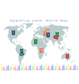 World Map of Fruits Drink and Sweet Beverage vector image vector image