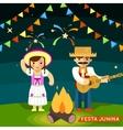 Festa Junina St Johns june festival vector image