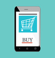 Mobile shopping icon vector image