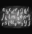 chalk hand drawing alphabet vector image