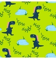 Dino kid seamless pattern for textile print vector image