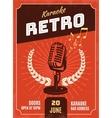 Karaoke Retro Style Poster vector image