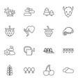 16 nature icons vector image vector image