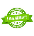 5 year warranty ribbon 5 year warranty round vector image vector image