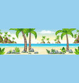 a tropical coastal landscape panorama vector image vector image