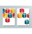Abstract Brochure Flyer cubes design template vector image vector image