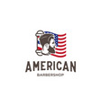 american barber shop logo design template vector image vector image
