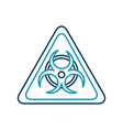 atomic caution signal icon vector image vector image