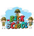 back to school template with scout vector image vector image