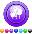 Balloons circle button vector image vector image