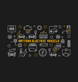 battery electric vehicle creative outline vector image