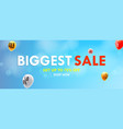 biggest sale shop now get up to seventy five vector image vector image