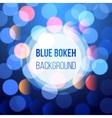 blue bokeh lights vector image vector image