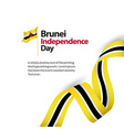 brunei independence day template design vector image
