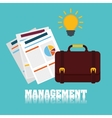 Business management projects vector image vector image