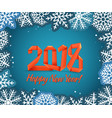christmas background with paper flakes new year vector image vector image