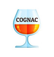 cognac whiskey icon flat alcohol drink vector image