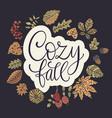 cozy fall autumn vector image vector image