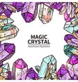 Crystals Hand Drawn vector image vector image