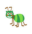 cute cartoon green ant colorful character vector image