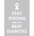 diabetes poster vector image vector image