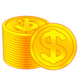 dollar coins icon vector image vector image