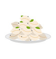 dumplings in plate isolated pelmeni in dish vector image vector image