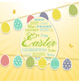 easter border background and bunting vector image vector image