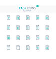 easy icons 22e database vector image vector image