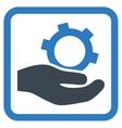 Engineering Service Flat Icon vector image vector image