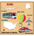 Flat map of Alaska vector image vector image