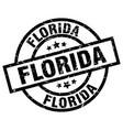 florida black round grunge stamp vector image