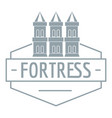 fortress logo simple gray style vector image vector image