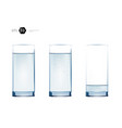 glass water healthy lifestyle vector image