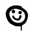graffiti grunge emoji with black ond white colour vector image vector image