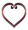 hand drawn hearts decorative swirls vector image
