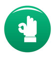 hand everything good icon green vector image