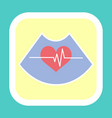 heart and rhythm line icon cardiogram sign vector image