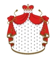 Heraldic royal mantle vector image vector image