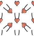 Human organs flat pattern vector image
