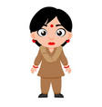 indian lady police constable security vector image vector image