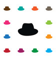 isolated fedora icon panama element can be vector image vector image