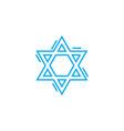 jewish symbol linear icon concept jewish symbol vector image vector image