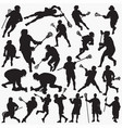 lacrosse silhouettes vector image