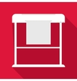 Large format printer icon flat style vector image vector image