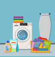 laundry room service concept vector image vector image