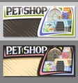 layouts for pet shop vector image