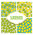 Lemon colored doodle seamless pattern vector image vector image
